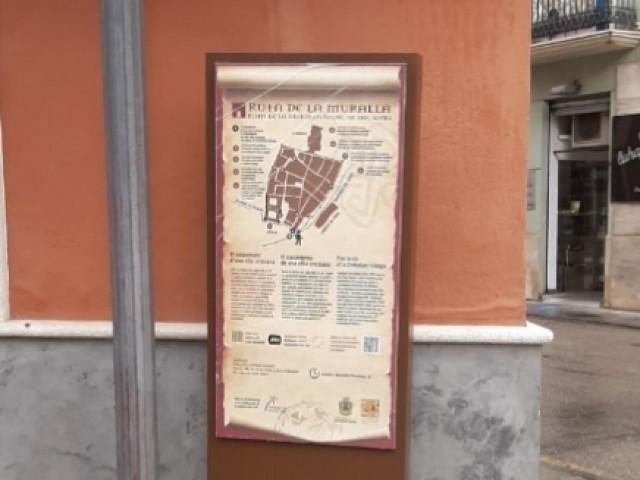 Un dels punts de La Ruta de la Muralla / Aj. Cocentaina