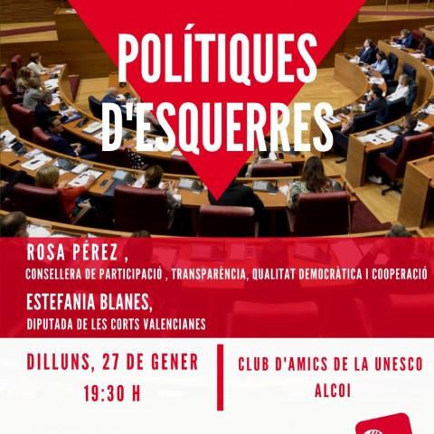 RosaGarijoi Estefania Blanes parlen de polítiques d'esquerres a Alcoi