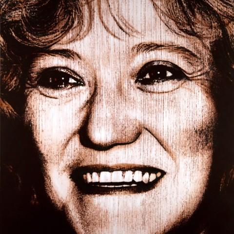 L'autora retratada per Antoni Miró.