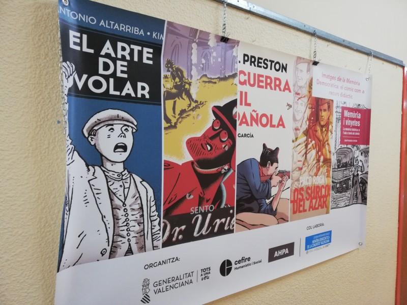 Un dels panells de l'exposició.