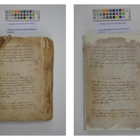 Documents restaurats.