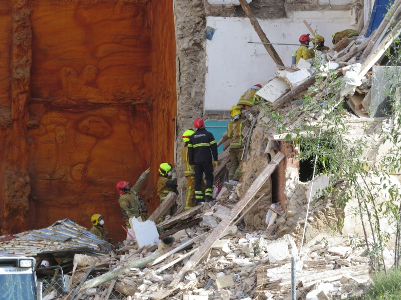 Restes de l'edifici assolat als números 8 i 10 de Sant Agustí.