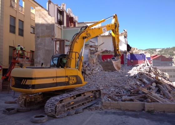 Demolició al carrer Sant Joan.