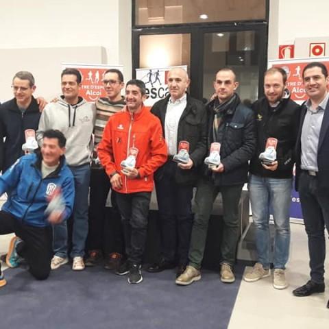 Els 9 corredors premiats.