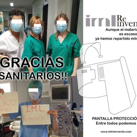IMLReinventa ja ha repartit 15.000 pantalles protectores per tota Espanya