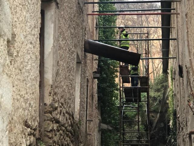 Estabilització de la façana del Molí Vell del Ferro.