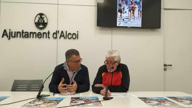 Toni Giner i Miguel Juan en la presentació de la 31 Cross Alcoi