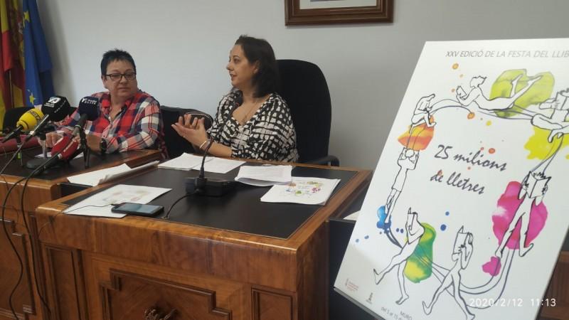 Presentació de la Fira del Llibre de Muro. El cartell és obra de Laura Llorens.