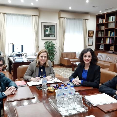 Reunió amb la subdelegada del govern.