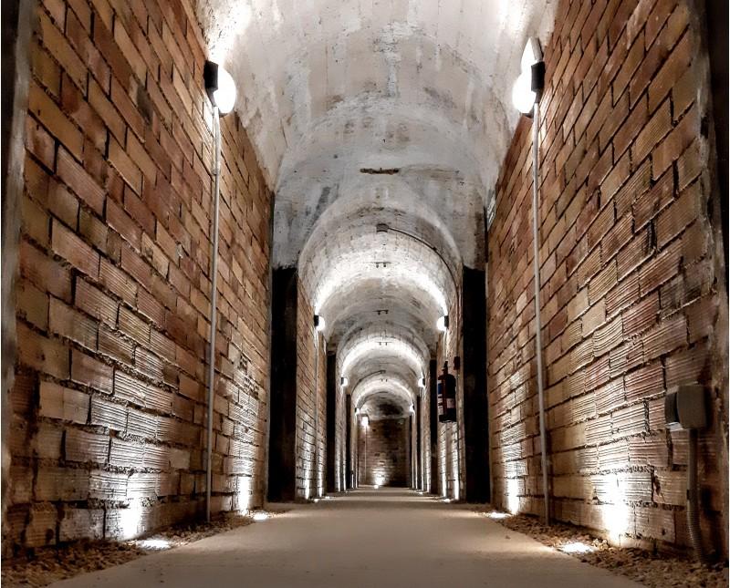 Interior del refugi antiaeri.