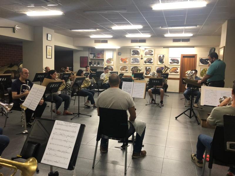 Assaig conjunt de metall de la Nova d'Alcoi / Facilitat per Música Nova Alcoi