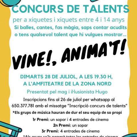 Cartell del concurs de talents