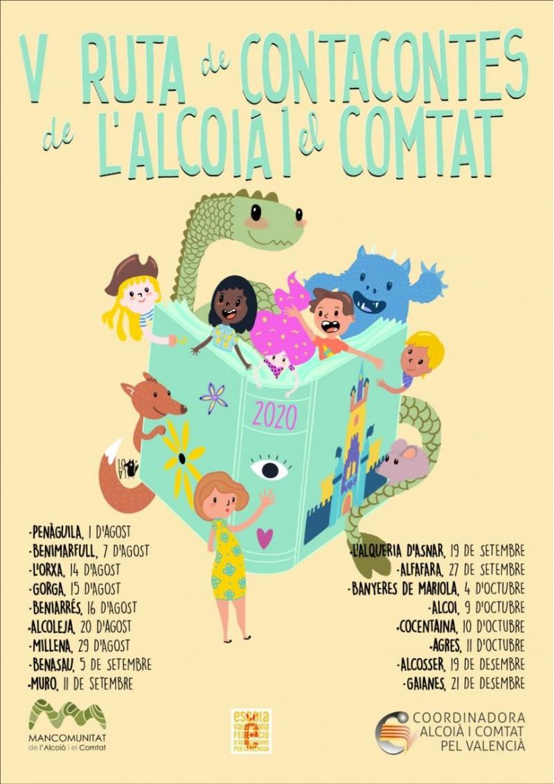 Cartell de la V Ruta de Contacontes / Mancomunitat de l'Alcoià i el Comtat