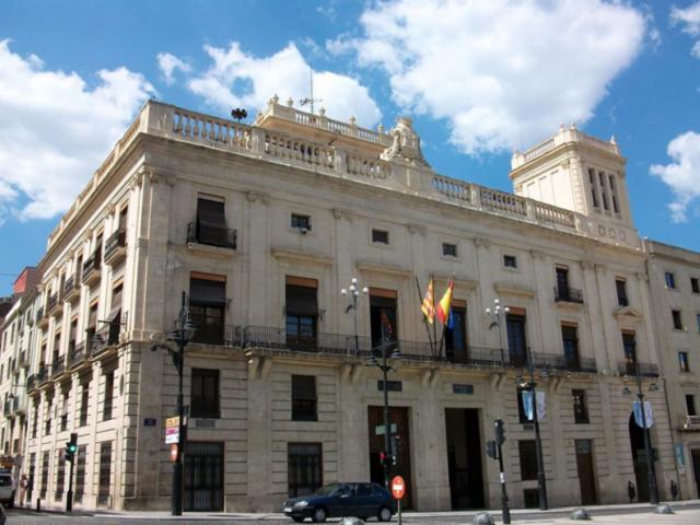 Façana de l'Ajuntament d'Alcoi./ AM