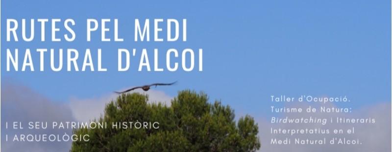 Cartell de les rutes pel medi natural d'Alcoi