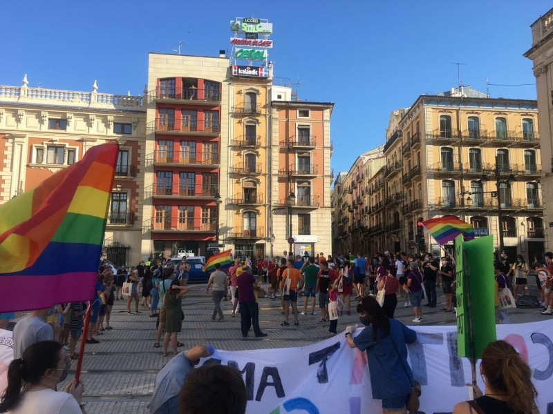 La plaça de l'Ajuntament d'Alcoi ha acollit per segon any consecutiu aquesta celebració reivindicativa./ LV