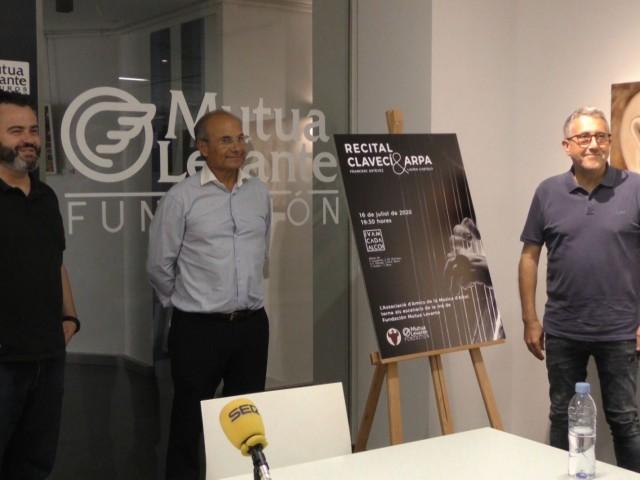 Roda de premsa del 'Recital Clavecí i Arpa'./ AM