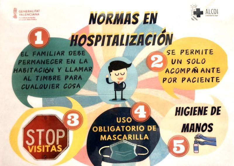 Imatge de les xarxes socials pel Departament de Salut d'Alcoi