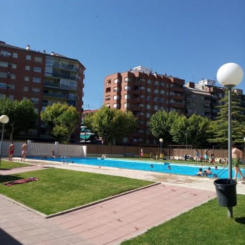 La piscina de Caramanxel, l'única que durant uns minuts va cobrir l'aforament màxim.