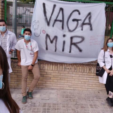 Ana Rosa i companys durant la vaga / Ana Rosa