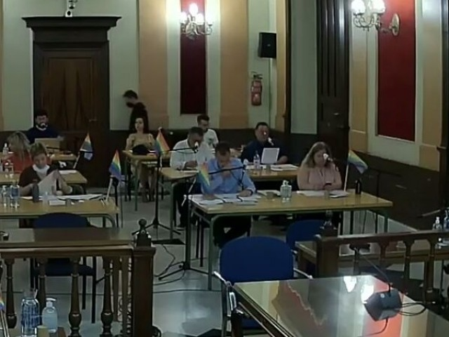 El plenari d'aquest 3 de juliol a l'Ajuntament d'Alcoi.