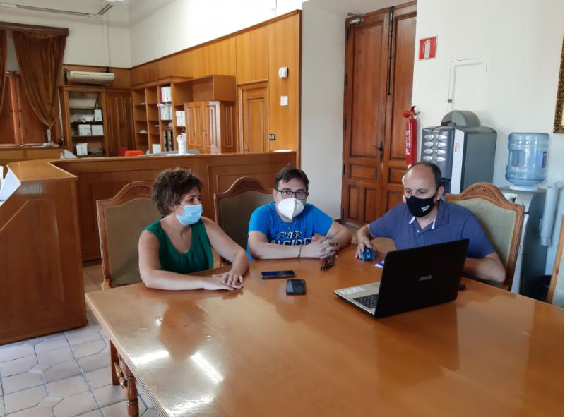 Reunió en Castalla sobre la Via Verda / Facilitat per l'Ajuntament de Castalla