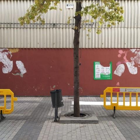 Mural repintat de Fefeto / ENGAFAT