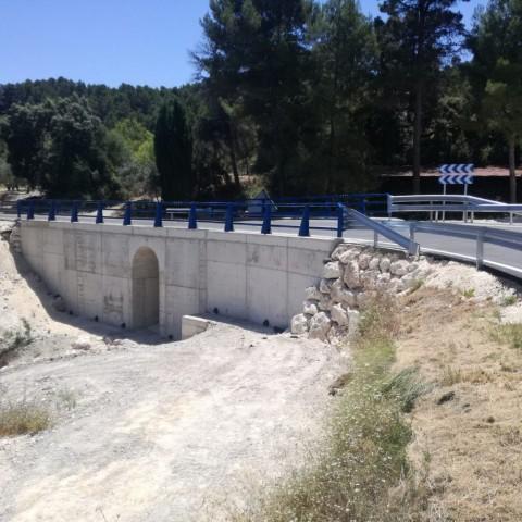 El nou pont a la Venta Nadal