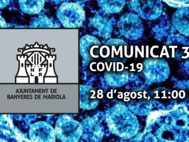Comunicat de l'Ajuntament de Banyeres sobre la Covid-19