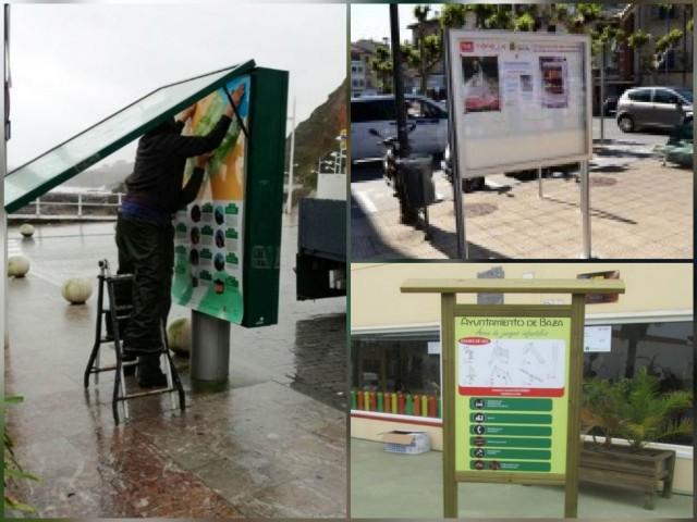 Imatges d'altres municipis aportades pel veí que proposa panells informatius.