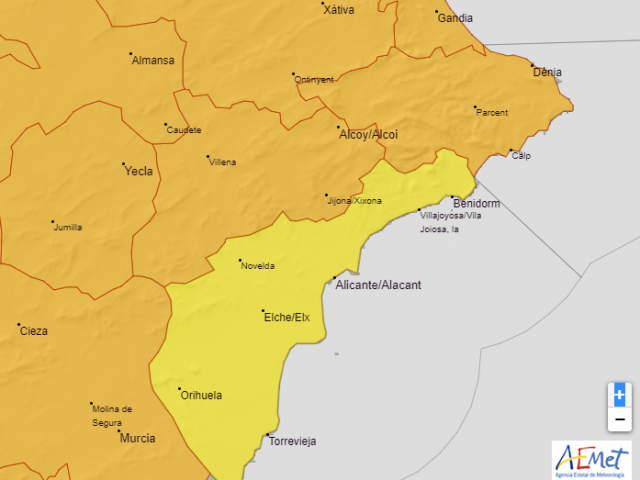 Mapa oferit per AEMET que correspon al dissabte 1 d'agost