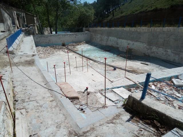 Es reprenen les obres a la piscina del Preventori