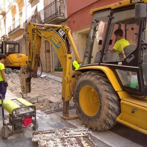 Obres al carrer Sant Francesc, projecte per al qual l'oposició demana més informació.