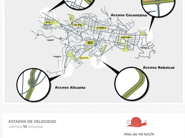 Les càmeres Smart City ja controlen, per exemple, el trànsit en temps real en els accessos a Alcoi.