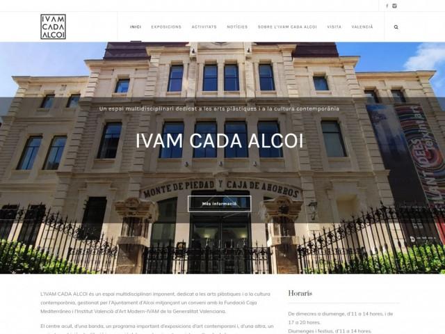 Pàgina inicial del web.