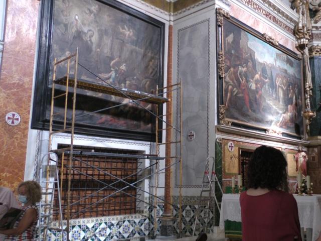 Cocentaina trasllada el llenç 'Santa Clara ante los sarracenos' per a ser restaurat