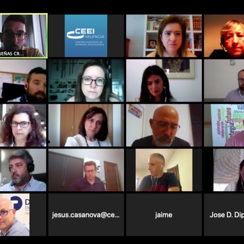 Primera reunió de l'equip de treball amb l'IVACE i el CEEI Alcoi-València