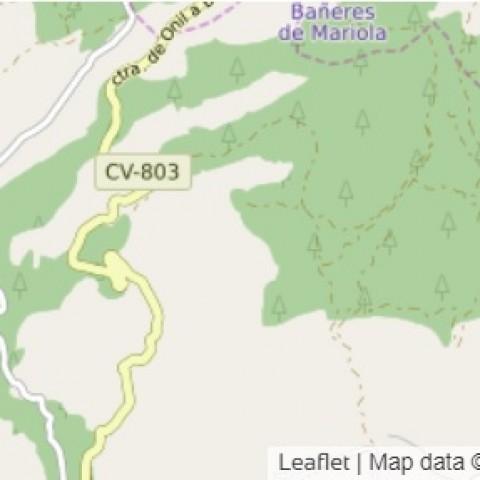 El lloc aproximat del sinistre en un mapa