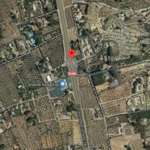 Punt kilomètric on s'ha produit l'accident segons el CICU / Google Maps