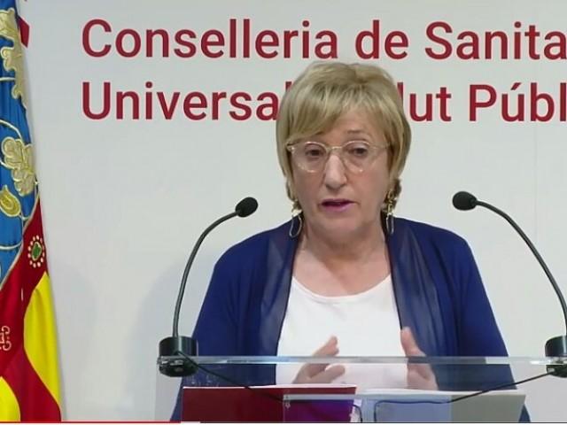 Ana Barceló en la compareixença de hui