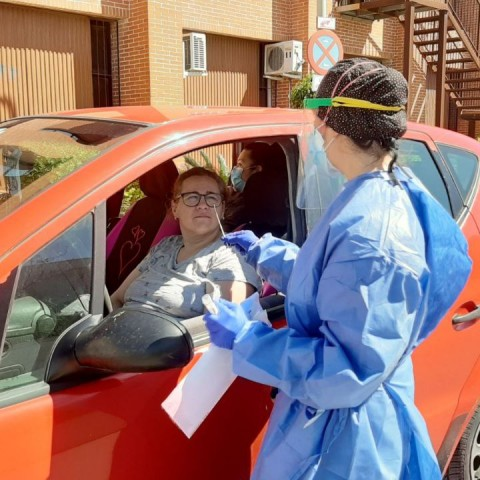 Una prova PCR, imatge facilitada per la conselleria de Sanitat