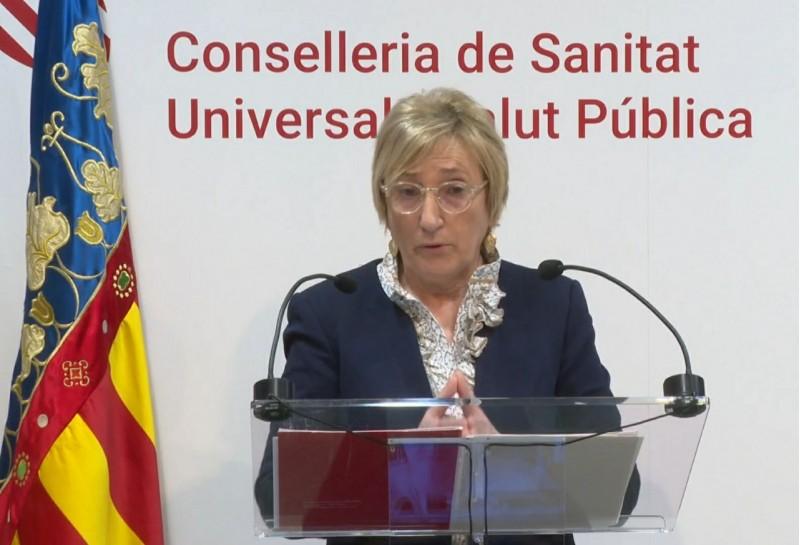 La consellera Barceló en roda de premsa.