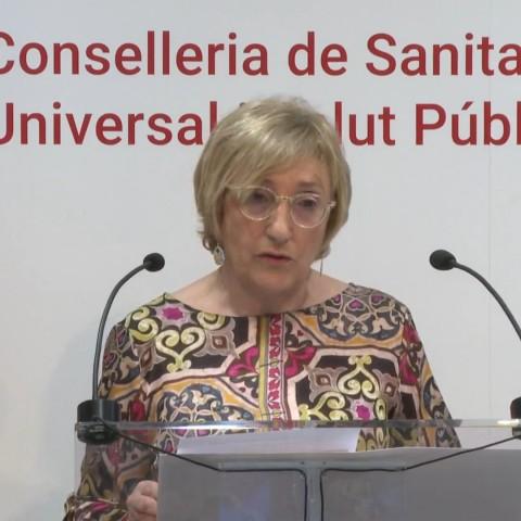 La Consellera Ana Barceló en una compareixença anterior, hui no ha fet roda de premsa en directe.