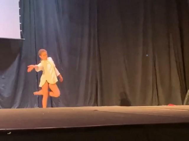 Integrants d'A3 Danza en la fase classificatòria de València, el passat 1 març.