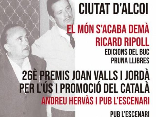 Ricard Ripoll, premi de poesia Manuel Rodríguez Martínez-Ciutat d'Alcoi