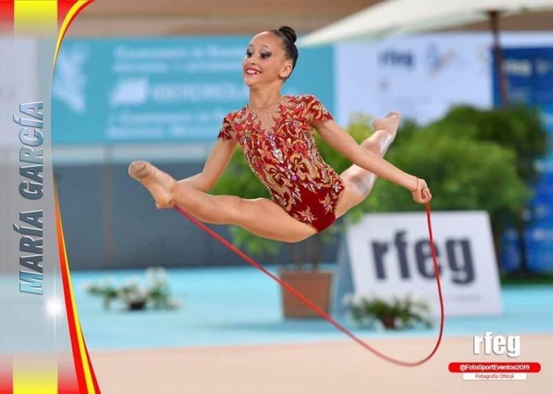 Maria García, gimnasta del CGR Alcoi / Imatge via CGR Alcoi