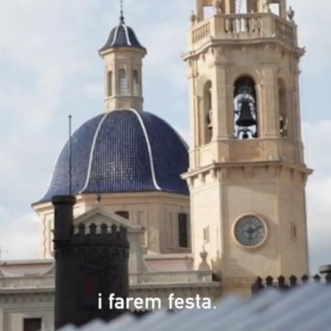 Missatge d'ànim de l'Ajuntament d'Alcoi
