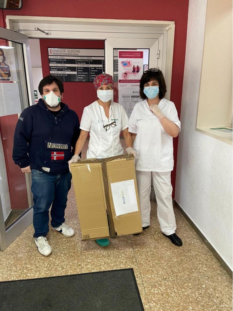 Persona sanitari de l'Emilio Sala/ACCESEO