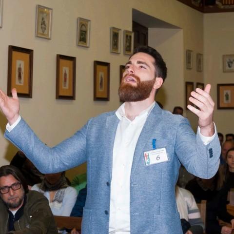 Antonio Delgado, en el concurs. Imatge facilitada per l'Associació de Sant Jordi