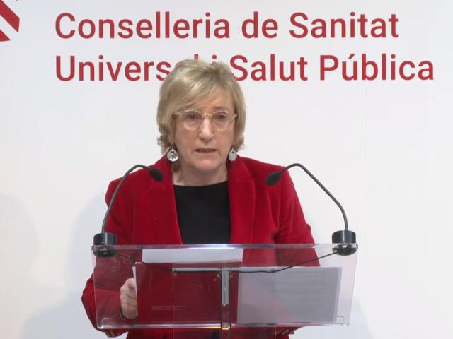 Ana Barceló durant la roda de premsa del 19 de març